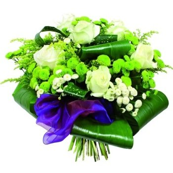 Funeral spray - White Roses and Marguerites