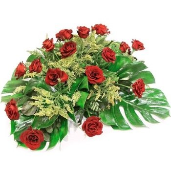 Funeral Spray of Red Roses