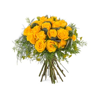 12 Short-stemmed Yellow Roses