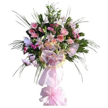 Standing Arrangement for Celebrationsin Pink