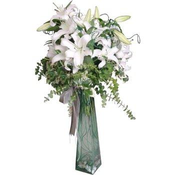 Arrangement of White Liliums