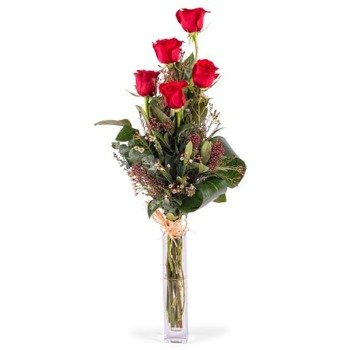5 Long-stemmed Red Roses