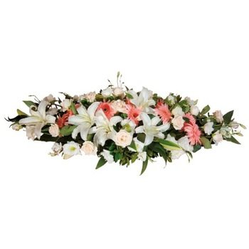 Funeral Spray - White and Pink