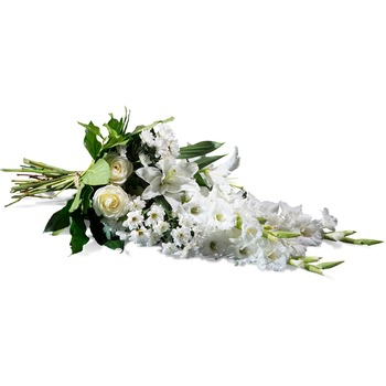 Horizontal Bouquet in white shades (Vase Not Included)