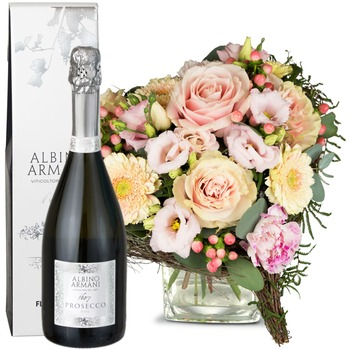 For my Princess, with Prosecco Albino Armani DOC (75cl) (Vase not included)