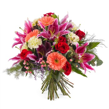 Bouquet of Roses with Lilies (Vase Not Included)
