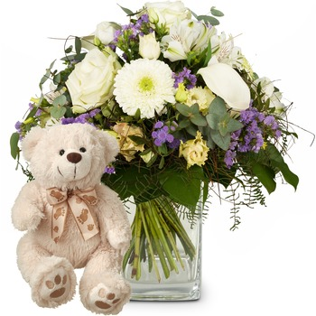Simply Heavenly ... with teddy bear (white)