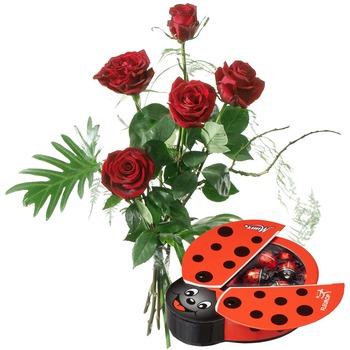 For my Sweetheart with Chocolate Ladybird