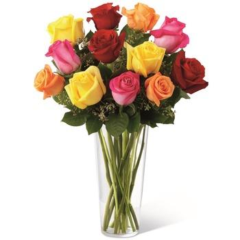 The FTD Bright Spark Rose Bouquet E4-4809