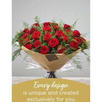 24 Hand-Tied Red Roses