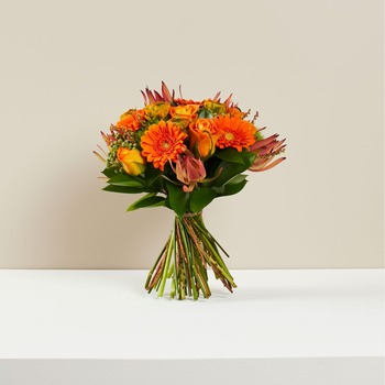 Clearly Orange Wrapped (Vase not included)