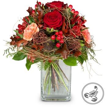 Bouquet Scorpio (Oct 24 - Nov 22) (Vase not included)