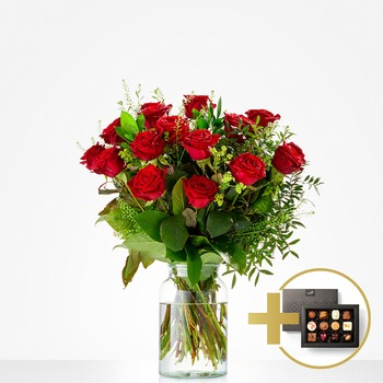 Combi Bouquet: You make me happy with chocolate