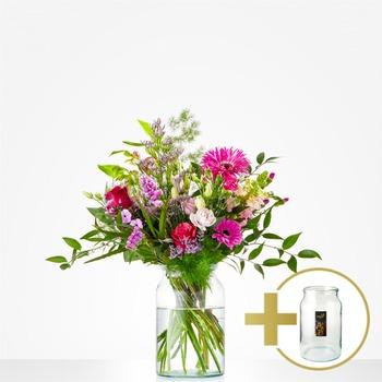 Combi Bouquet: Just for you; including vintage vase