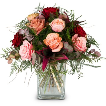 Romantic Roses (Vase not included)