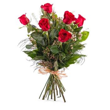 6 Long-stemmed Red Roses