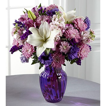 The FTD Shades of Purple Bouquet (includes vase