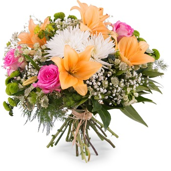 Spring Bouquet with Anastasias and Lilies (Vase Not Included)