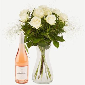 Elegant White Roses with Les Amourettes Ros