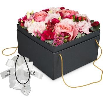 "Flowerbox ""Seville"" (20 cm) with Swarovski crystal heart"