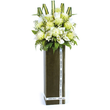 Sympathy Flower Stand - Peaceful Tranquility.