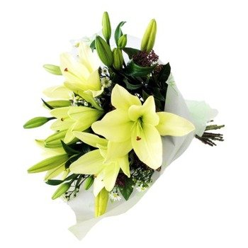 Bunch Of Lilies - White