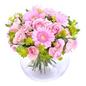 To mother with love in pink