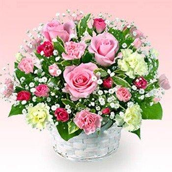 Rose and Carnation Arrangement